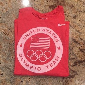 Nike USA Olympic Shirt in Red- Men's X-Large